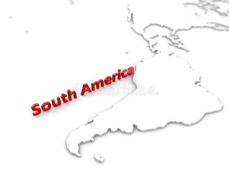 Download South America region map stock illustration. Image of southern - 18596489