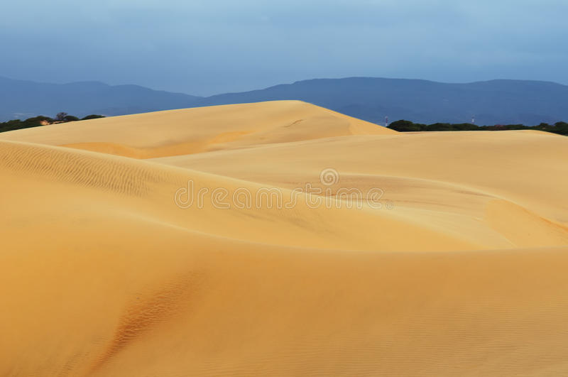 South America, Sand dunes in Venezuela near the city of Coro royalty free stock photography