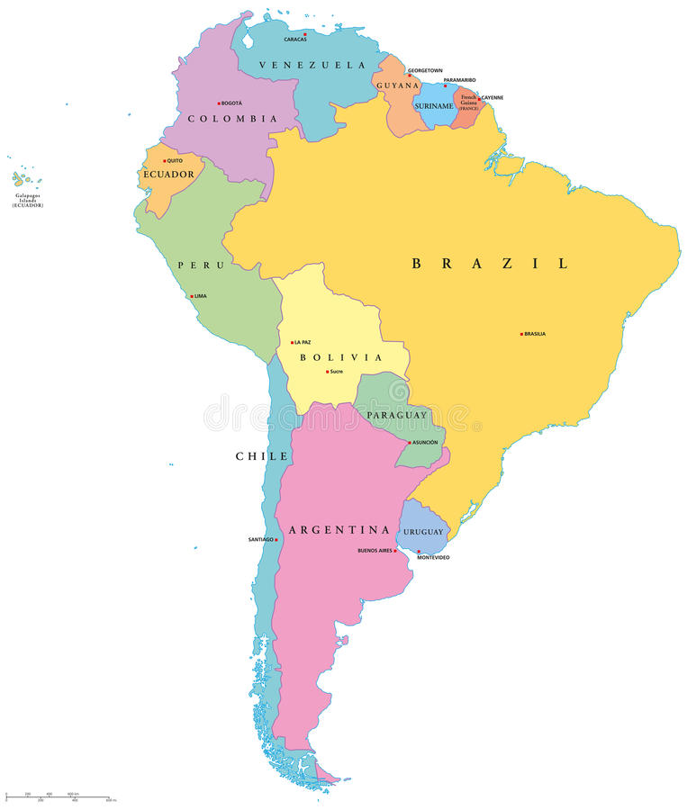 South America Single States royalty free illustration
