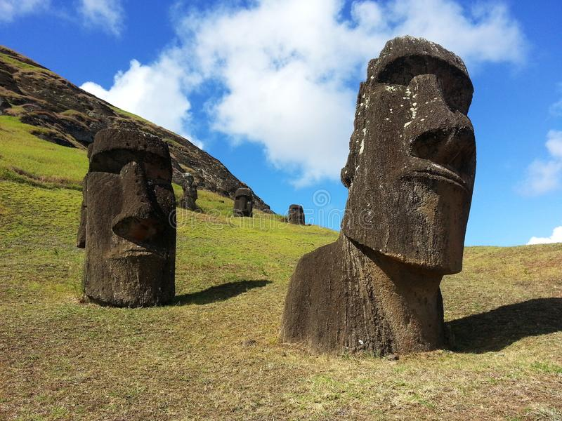 Birthplace of the Moai stock images