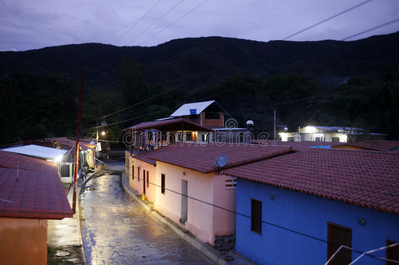 SOUTH AMERICA VENEZUELA CHUAO VILLAGE royalty free stock image
