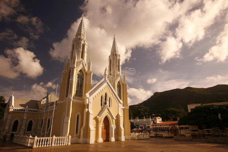 SOUTH AMERICA VENEZUELA ISLA MARGATITA CATEDRAL royalty free stock photos