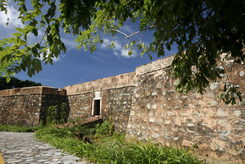 SOUTH AMERICA VENEZUELA ISLA MARGATITA LA ASUNCION CASTILLO. The Castillo Santa Cruz in the town of La Asuncion on the Isla Margarita in the caribbean sea of royalty free stock photos