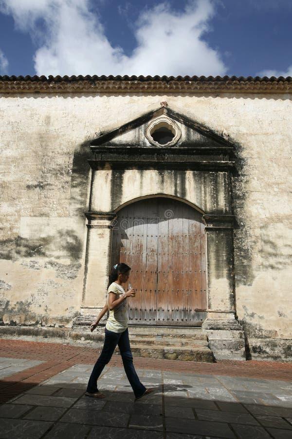 SOUTH AMERICA VENEZUELA ISLA MARGATITA LA ASUNCION. The town of La Asuncion on the Isla Margarita in the caribbean sea of Venezuela royalty free stock images