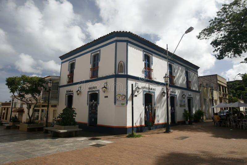 SOUTH AMERICA VENEZUELA ISLA MARGATITA LA ASUNCION. The town of La Asuncion on the Isla Margarita in the caribbean sea of Venezuela royalty free stock photography