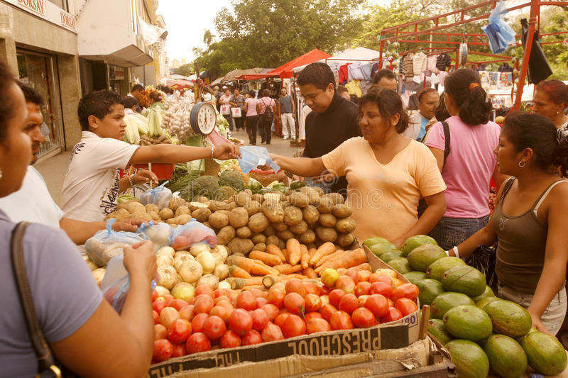 SOUTH AMERICA VENEZUELA MARACAIBO TOWN MARKET stock photography