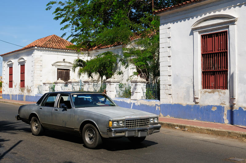 South America, Venezuela, View on the colonial Coro city stock photos