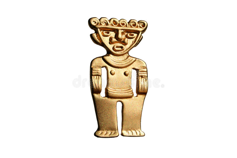 South American golden men royalty free stock photos