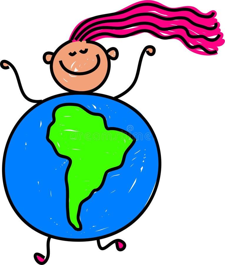 South American kid vector illustration