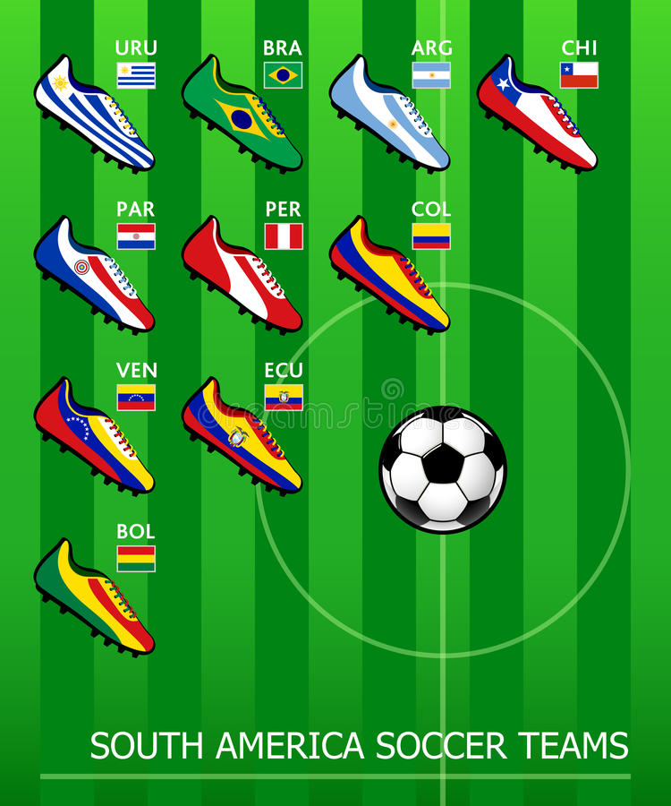 Download South American Soccer Teams Stock Photography - Image: 24393672