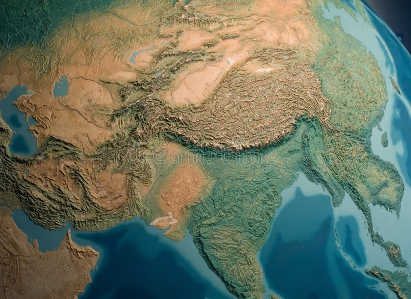 South- Asiaansicht stockfoto