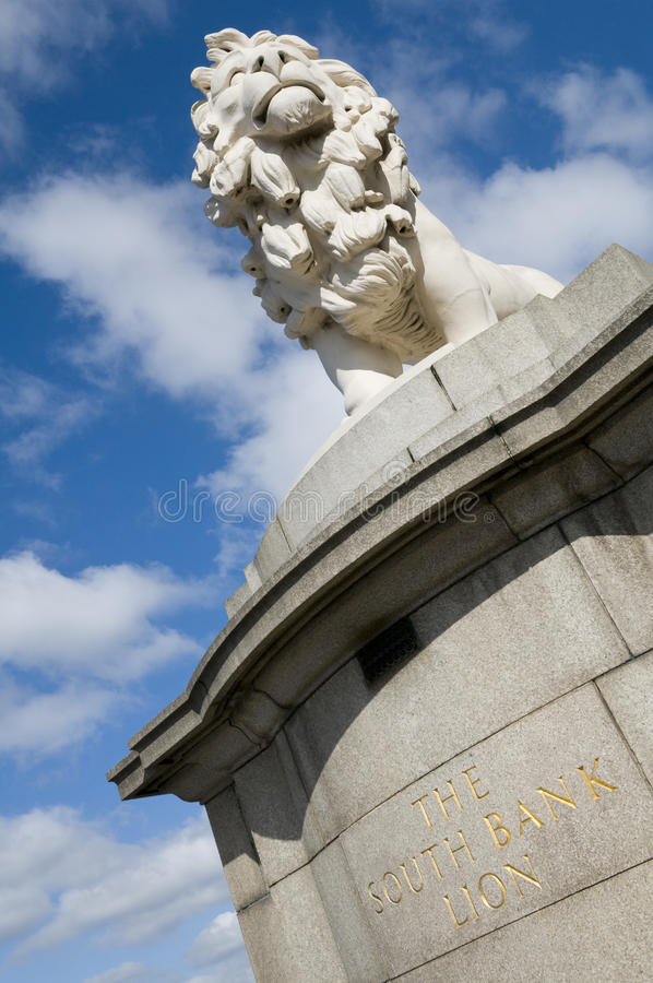 South Bank Lion London royalty free stock images