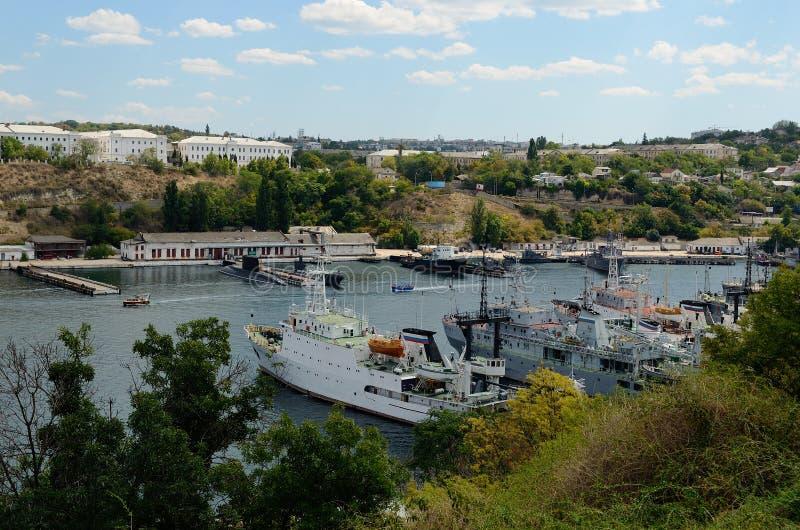 South Bay in Sevastopol stock images