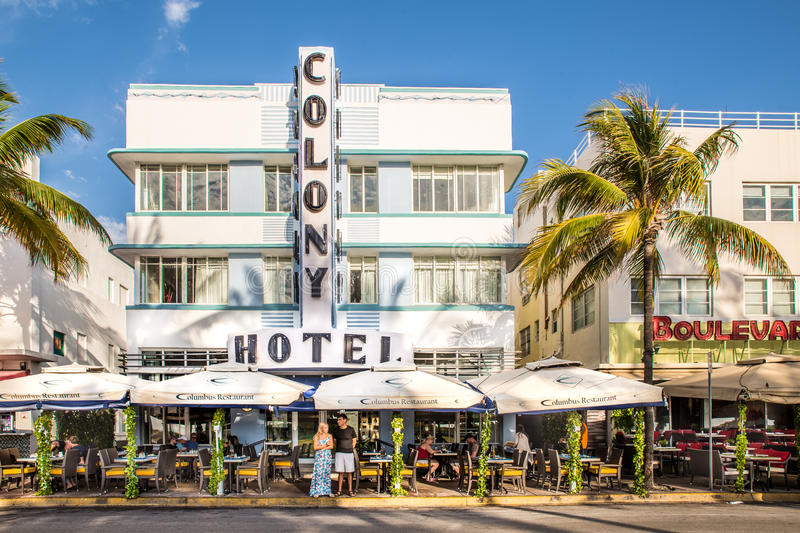 South Beach Art Deco Ocean Drive stock images