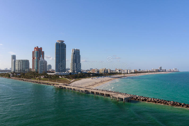South Beach, Florida stock images