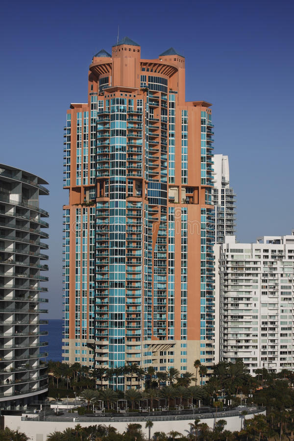 South Beach Hotels, Miami. stock images