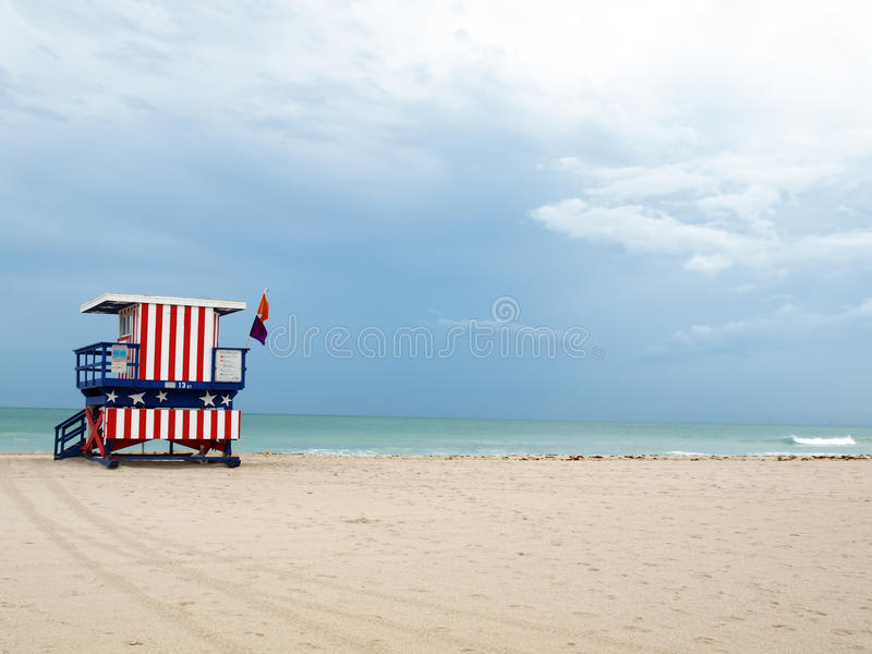 South Beach lifeguard stand royalty free stock photography