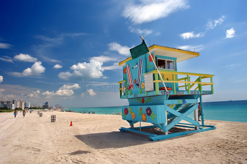 Download South Beach Miami stock photo. Image of clouds, tourists - 7997574