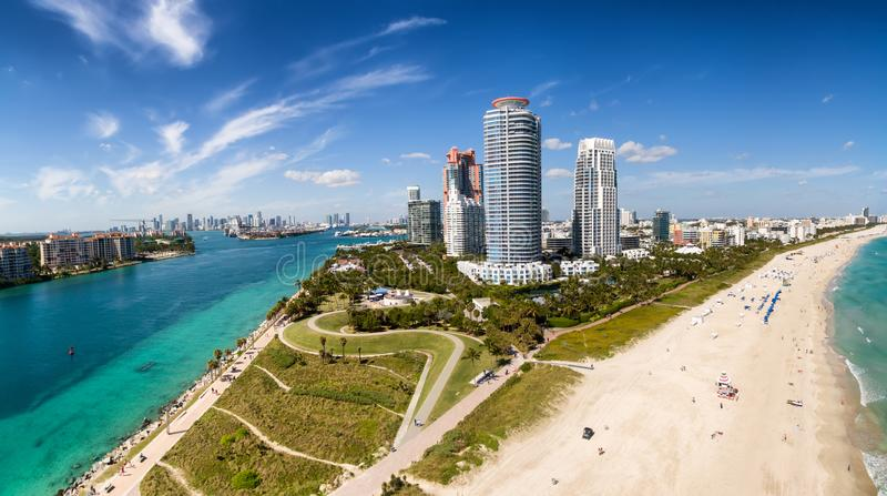 Aerial view of South Miami Beach royalty free stock images