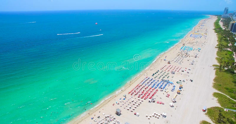 South Beach, Miami Beach. Florida. Aerial view. South pointe park. South Beach, Miami Beach, Florida. USA. Aerial view royalty free stock image
