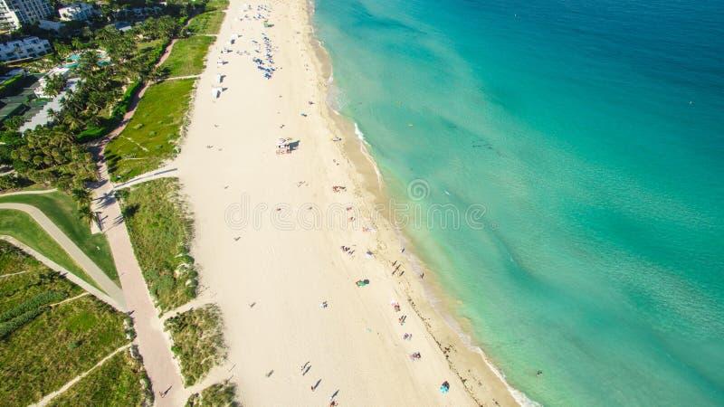 South Beach, Miami Beach. Florida. Aerial view. South pointe park. South Beach, Miami Beach, Florida. USA. Aerial view stock images