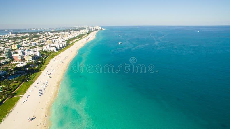 South Beach, Miami Beach. Florida. Aerial view. South pointe park. South Beach, Miami Beach, Florida. USA. Aerial view royalty free stock photo