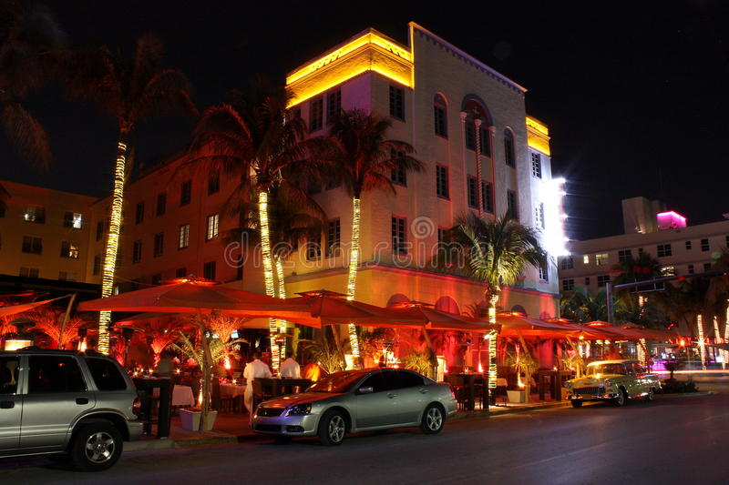 Download South Beach Miami Hotels editorial photo. Image of neon - 18391986