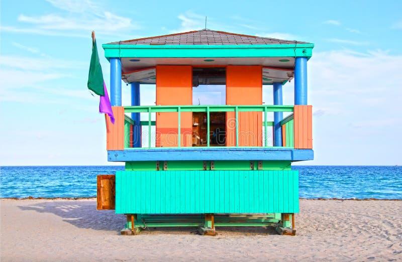 South beach Miami lifeguard tower stock photography