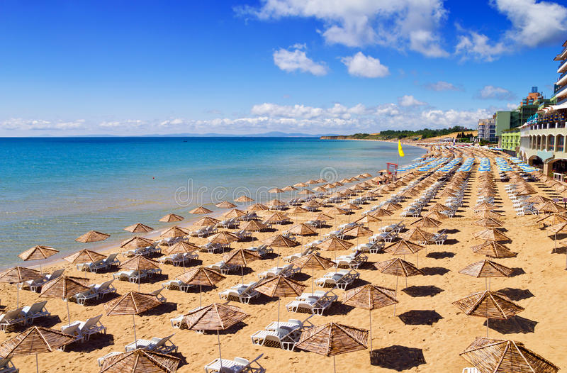 South Beach of Nessebar in summer royalty free stock image