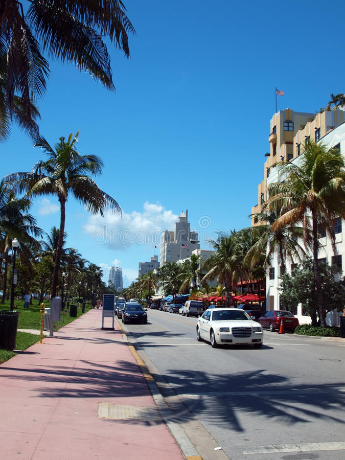 South beach Ocean Drive stock photos