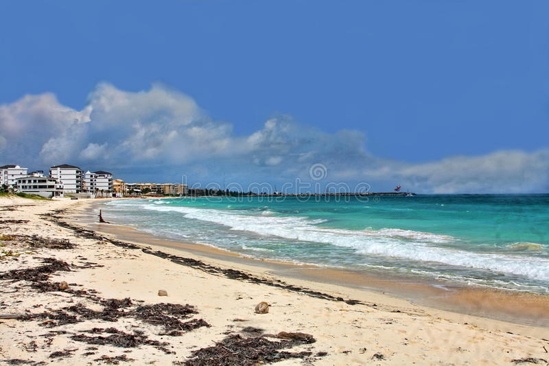 South Beach at Puerto Morelos stock photo