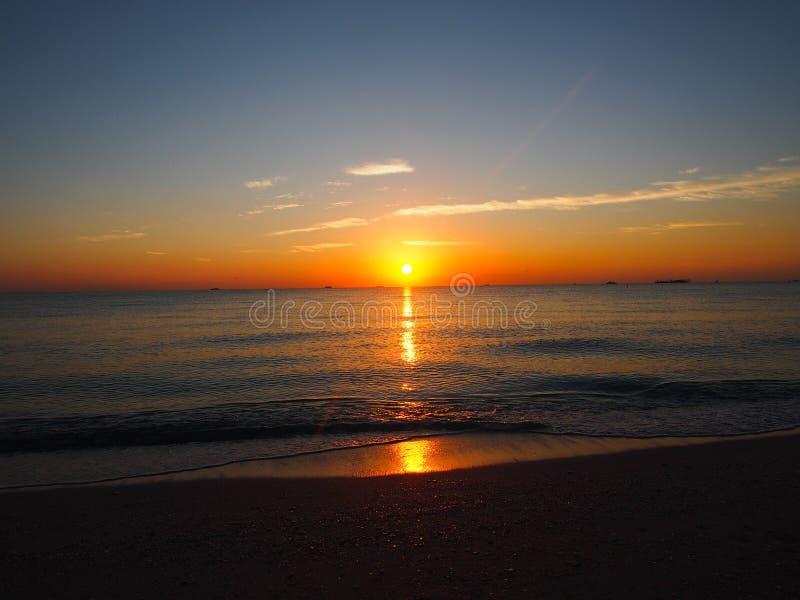 South beach sunset royalty free stock photo