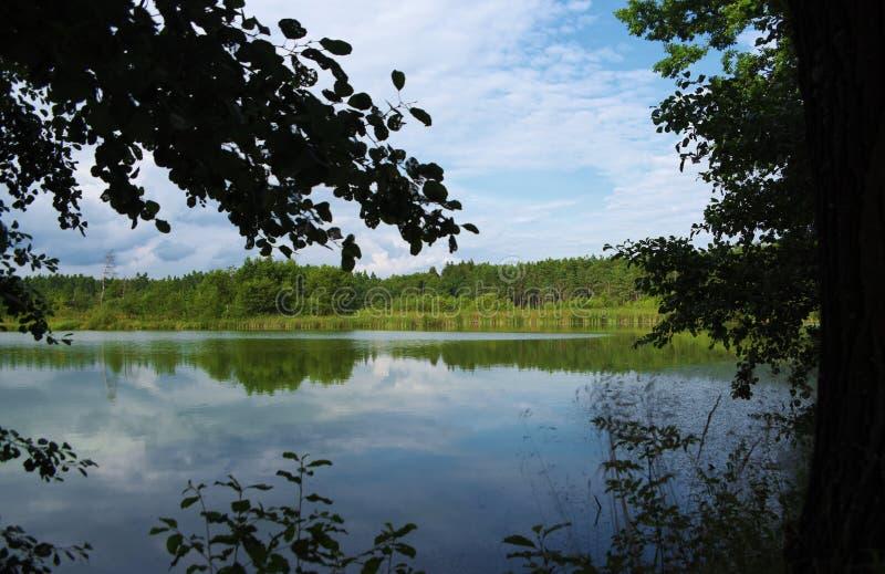 South Bohemia pond Nadeje. Near village Frahelz royalty free stock photography