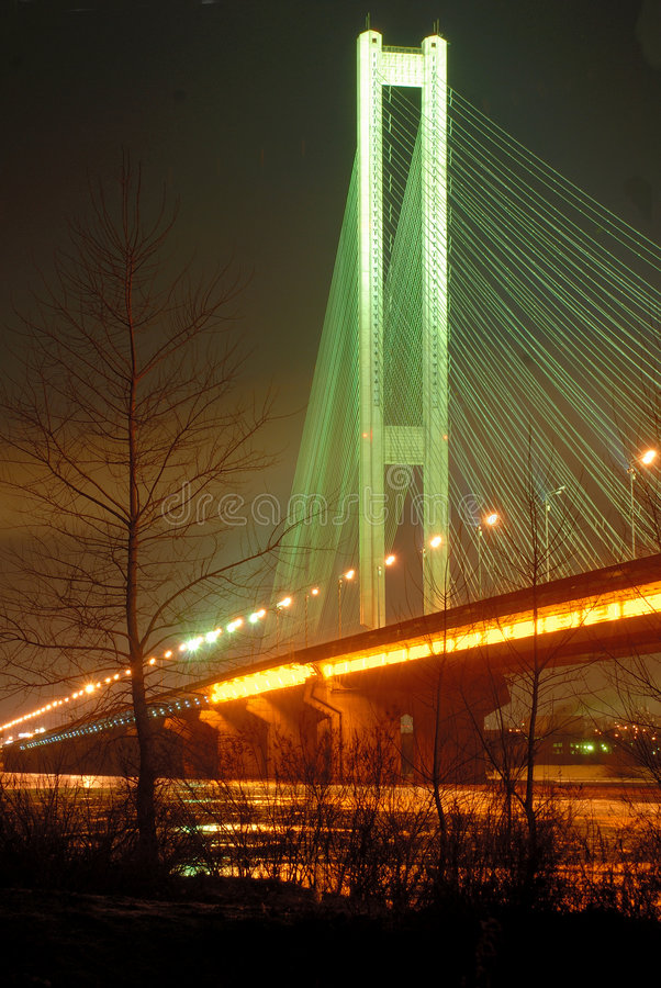 Free South Bridge At Night, Kiev, UA Stock Photos - 8238803