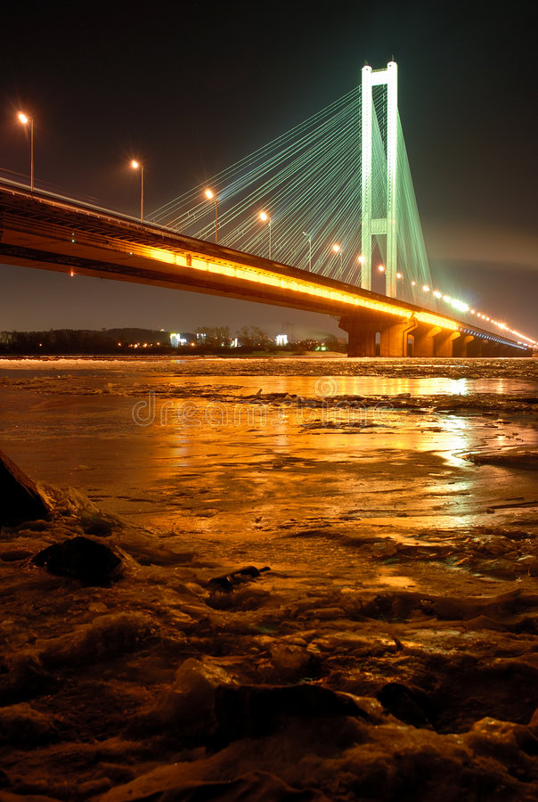 Free South Bridge At Night, Kiev, UA Stock Image - 8238861