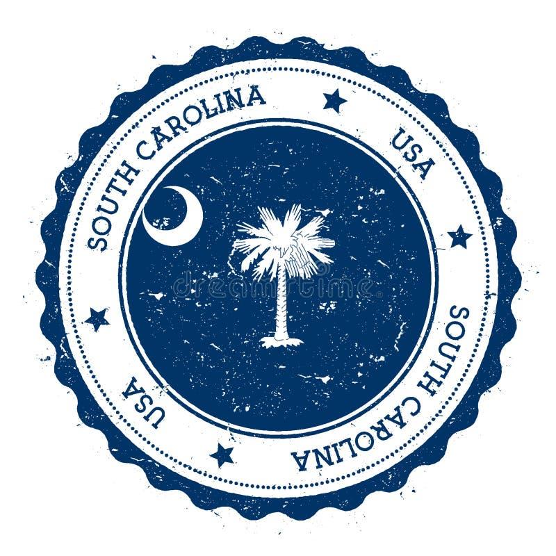 South Carolina flaggaemblem stock illustrationer