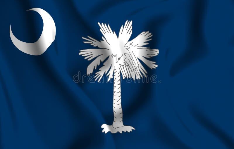South Carolina flaggaillustration stock illustrationer