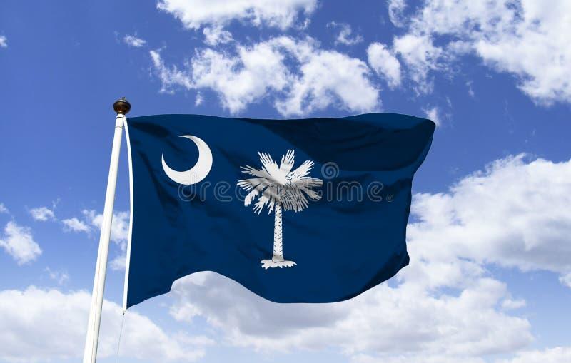 South Carolina flaggamodell i vinden vektor illustrationer