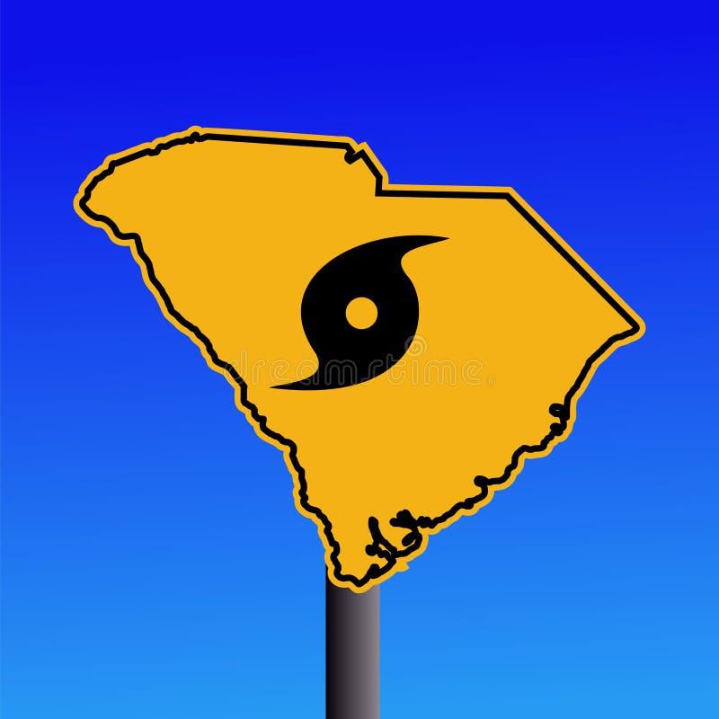 South Carolina hurricane sign vector illustration