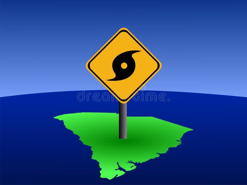 South Carolina Hurricane Sign Royalty Free Stock Photos