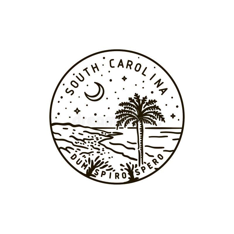 south carolina palma ilustracji