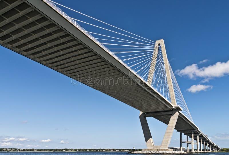 South- Carolinafaßbinder-Fluss Seilzug-bleiben Brücke stockbild