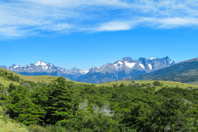 South Chile mountains view stock photo