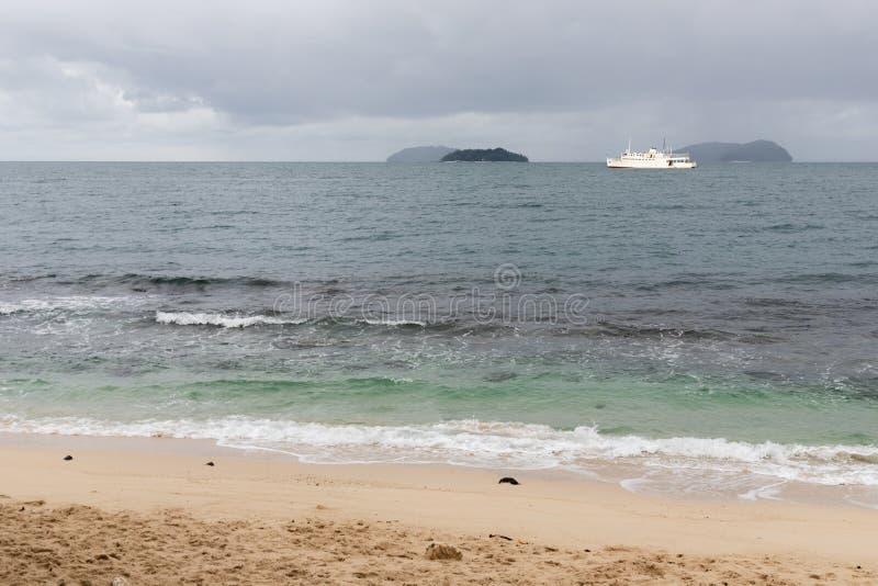 South China Sea Large Ship Boat Cruise Islands Transport Industry Shipping Sea. South China Sea Large Ship Boat Cruise Islands Transport Industry Shipping royalty free stock image