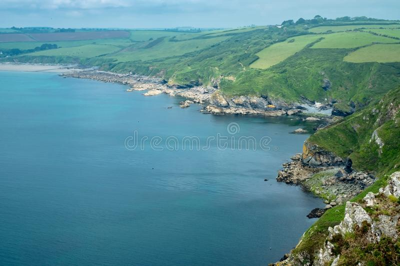 The south coast of Cornwall, England royalty free stock images