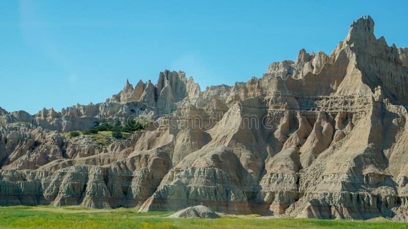 South- Dakotaödländer nähern sich Kieferridge-indischer Reservierung lizenzfreie stockbilder