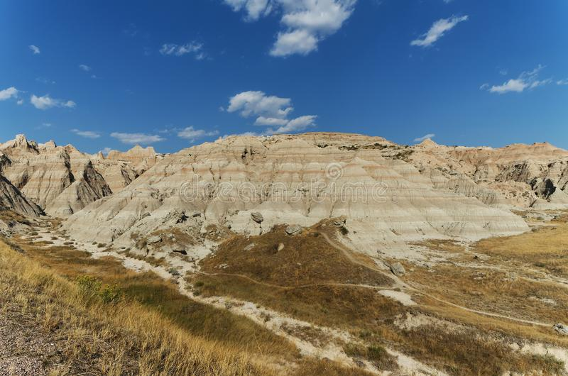 South Dakota Badlands nära sörjer Ridge indierreservation royaltyfri fotografi