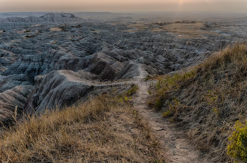 South Dakota Badlands nära sörjer Ridge indierreservation royaltyfria bilder