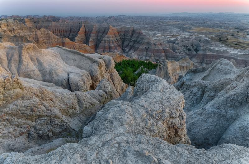 South Dakota Badlands nära sörjer Ridge indierreservation royaltyfria foton