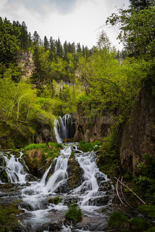 South Dakota Black Mountain Hills waterfalls stock photography